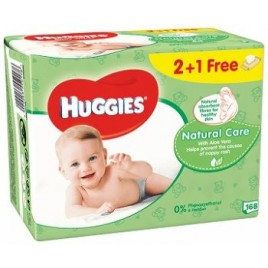 Huggies Natural niisked salvrätikud 3x56 tk