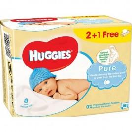 Huggies Pure niisked salvrätikud 3x56 tk