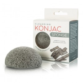 MITOMO Konjac Sponge With Bamboo Charcoal näopesukäsn