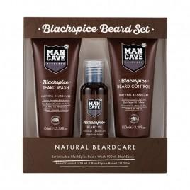 MANCAVE Blackspice Beard habemehooldus komplekt