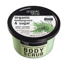 ORGANIC SHOP Lemongrass & Sugar Body Scrub, kehakoorija 250ml