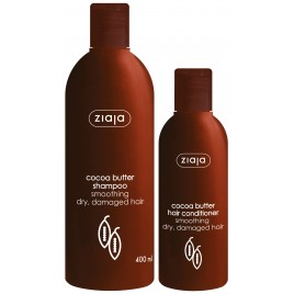 Ziaja šampoon Cocoa Butter 400ml + Ziaja juuksepalsam Cocoa Butter 200ml