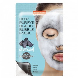 PUREDERM Deep Purifying Black O2 Bubble näomask (Charcoal) 20g